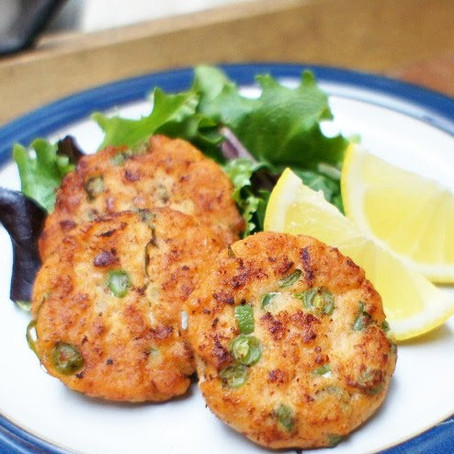 Thai style fish cakes with beans recipe