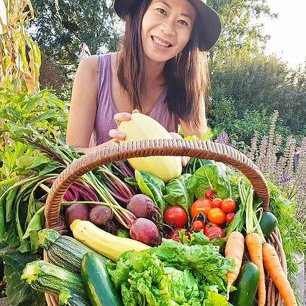 Jo Jo Yee Asian garden cook. Jo Jo Yee from Big Allotment Challenge.