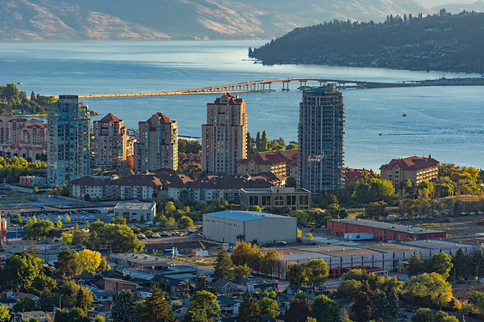 a view of the Kelowna British Columbia s