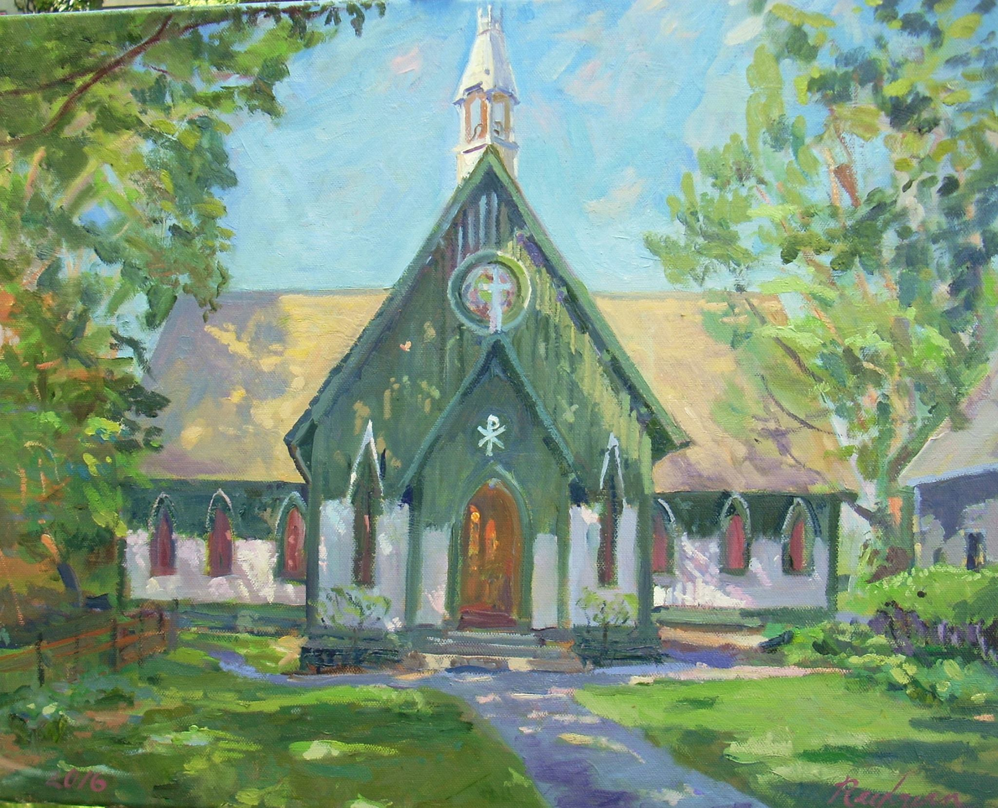 Charles Reyburn Painting of Pequot Chapel
