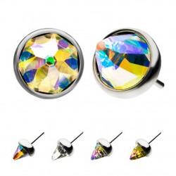 titanium-threadless-gem-cone-top