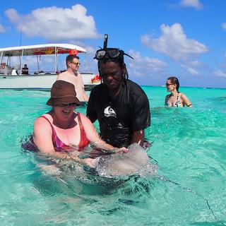 Stingray City Cayman shallow sandbar