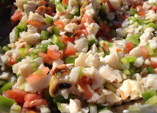 Conch Ceviche during November - conch season