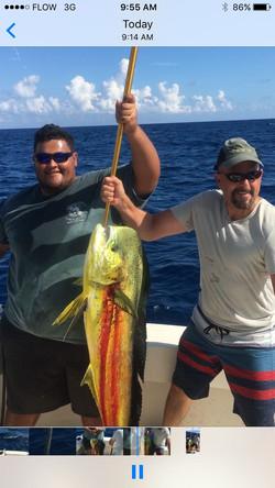 Deep sea fishing in Cayman