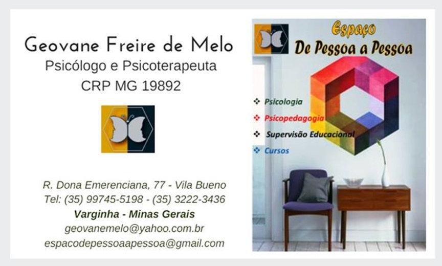 O Espaço De Pessoa a Pessoa é um projeto do casal Geovane Freire de Melo e Dani Mol que se iniciou a