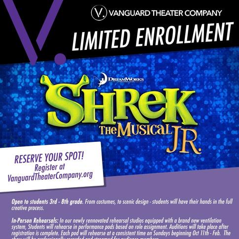 Shrek Jr. Audition Flyer