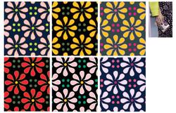 Flower dot pattern