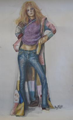 Fashion Watercolor Fendi coat