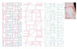 Raised layer textile print