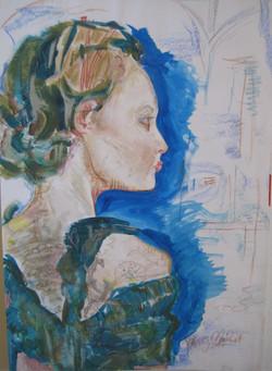 Ballet Profile Portrait
