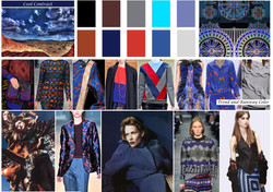 Cool Contrast:fall color trend
