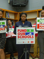 Students speak our the Fund Our Schools Launch