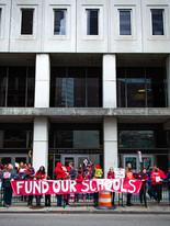 Rally outside legislative building during 2020 budget hearings