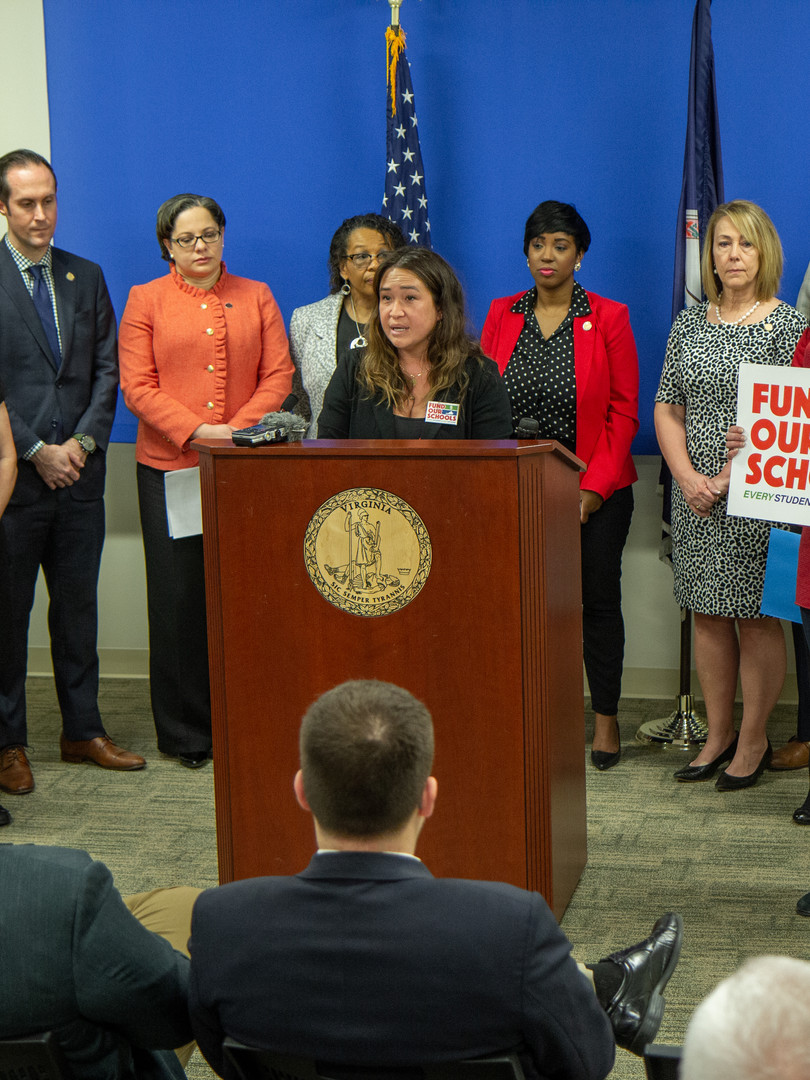 Press conference for school funding bills in the 2020 session