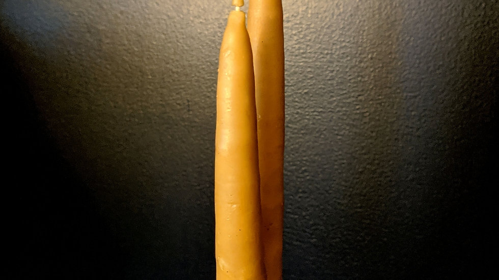 Beeswax Taper Candle Pair