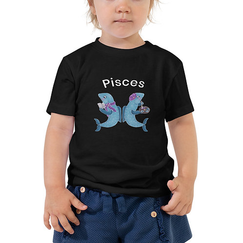 Toddler Short Sleeve Tee- Pisces Fish