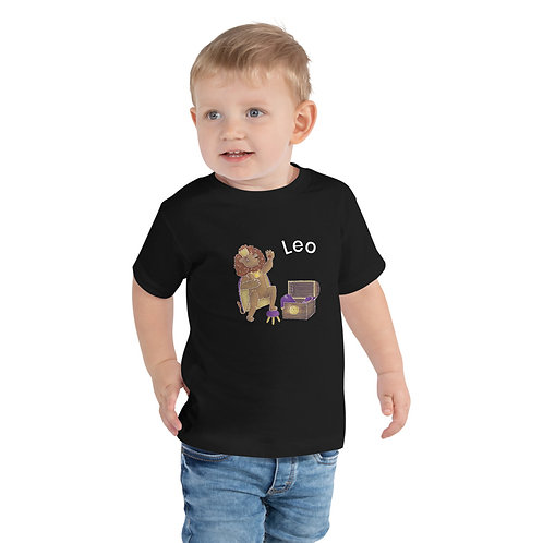 Toddler Short Sleeve Tee- Leo Lion