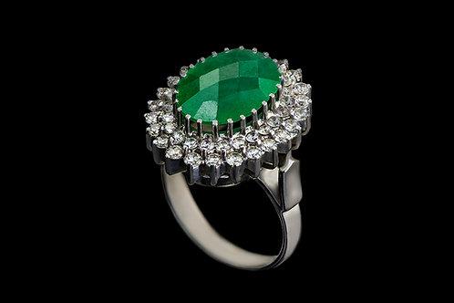 Prsten JADE s jadeitem a diamanty