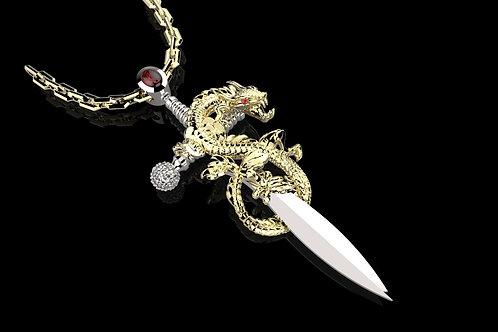 PřívěsekDRAK sdiamanty arubíny