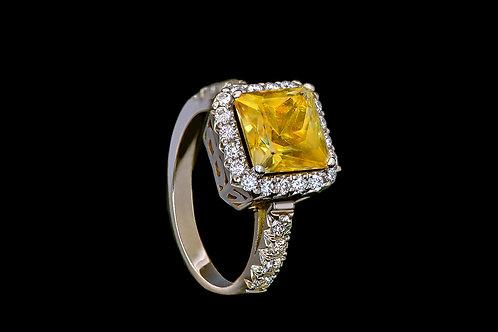 Prsten LESK s citrínem a diamanty