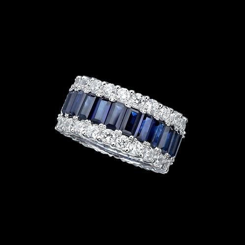 Prsten FANTASY s diamanty a safíry