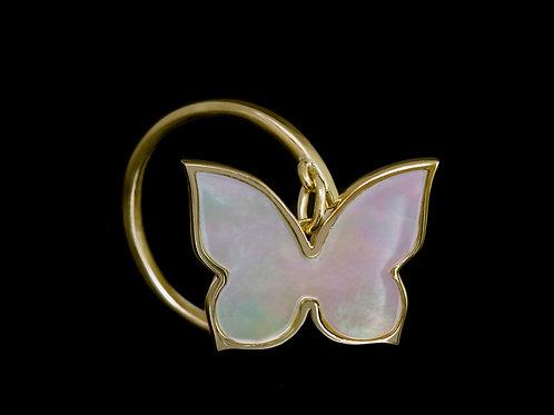 Prsten BUTTERFLY s perletí