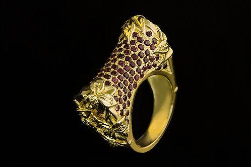Prsten TAJ MAHAL s rubíny
