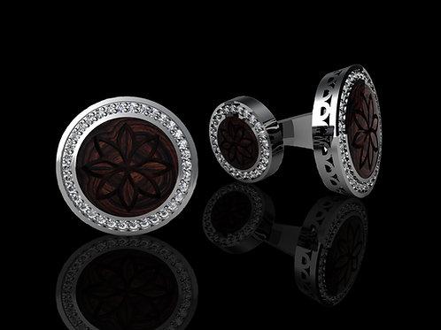 Zlaté manžetové knoflíčky BUFFALO s diamanty