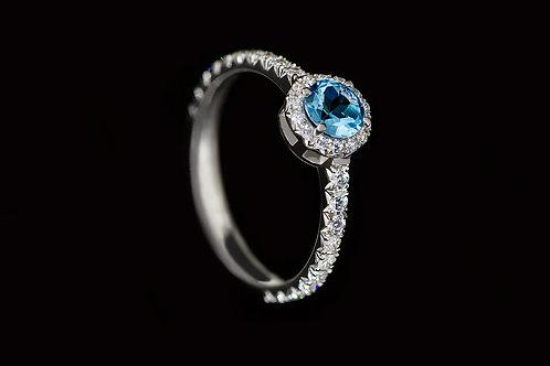 Zásnubní prsten BE MINE s topazem a diamanty