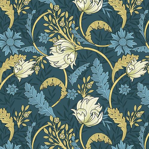 Vintage Floral-Blue