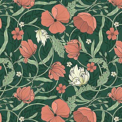 Vintage Floral-Green