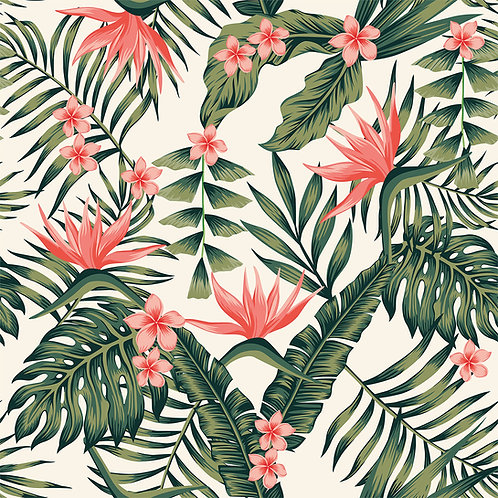 Tropical Floral - Coral