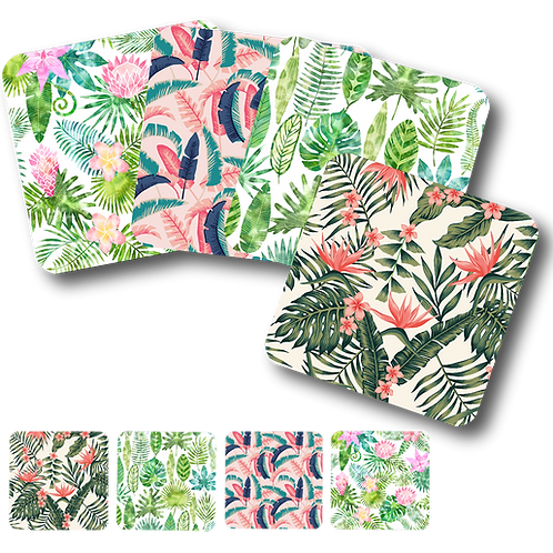 Tropical Floral - Set of 4 Coasters