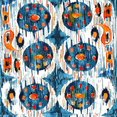 Spots on Blue