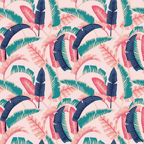 Tropical Floral - Teal Coral
