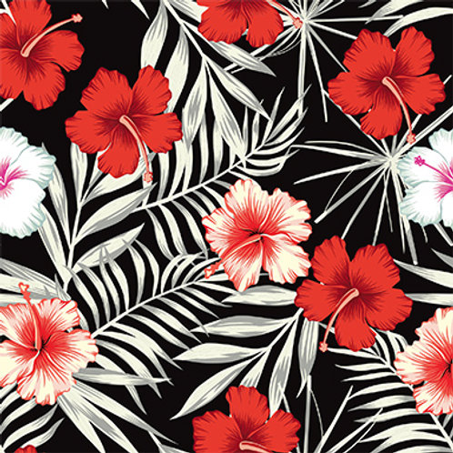 Tropical Floral - Red