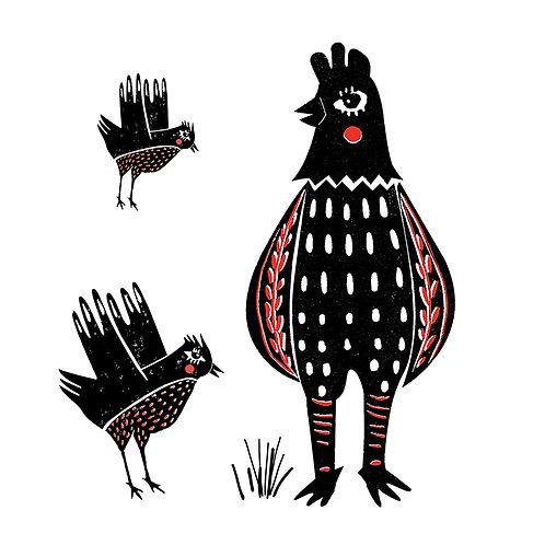 Sketchy Chicken & Birds