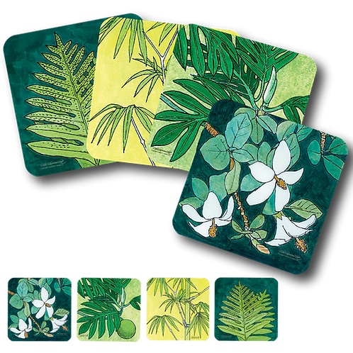 Plants Set of 4 Coasters