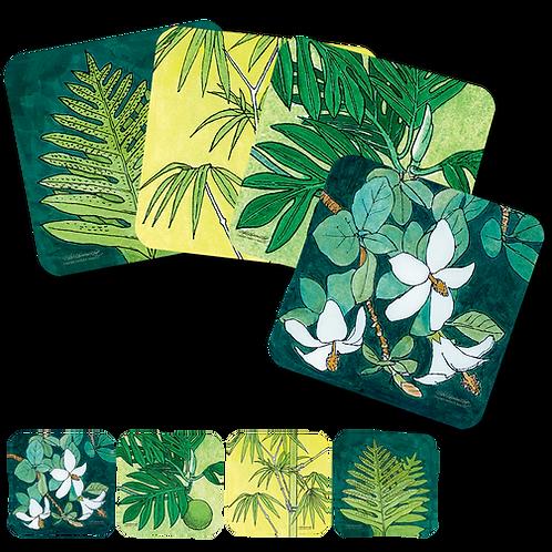 Plants Set of 4 Coasters