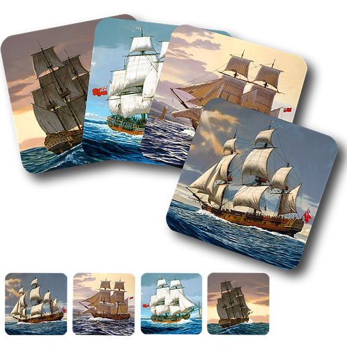 Ships - Set of 4 Coasters
