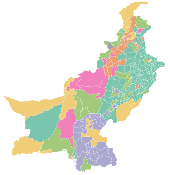 Electoral Map of Pakistan