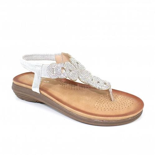 Edwina Silver Toe Post Sandal