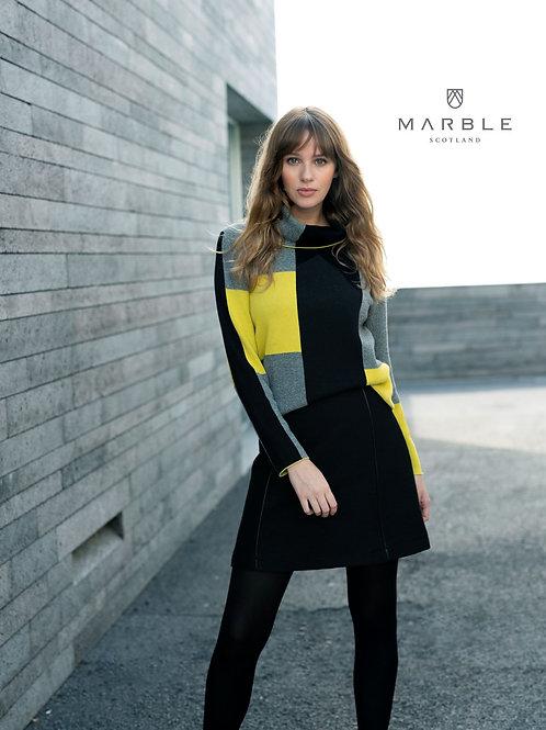 Marble Colour Block Jumper 5904