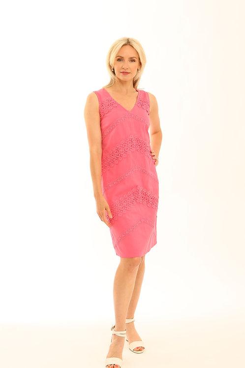Pomodoro cotton linen mix dress 72002