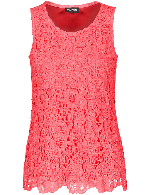 Taifun Coral Lace Front Top 571065