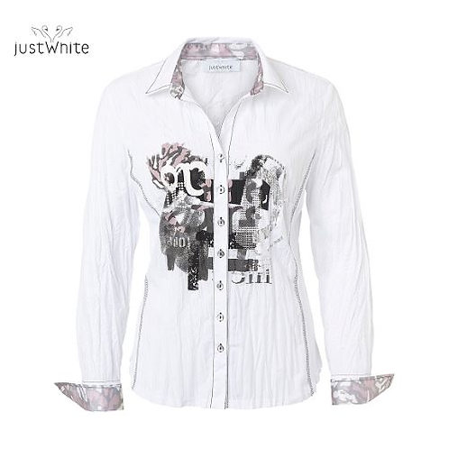 Just White Blouse 43715