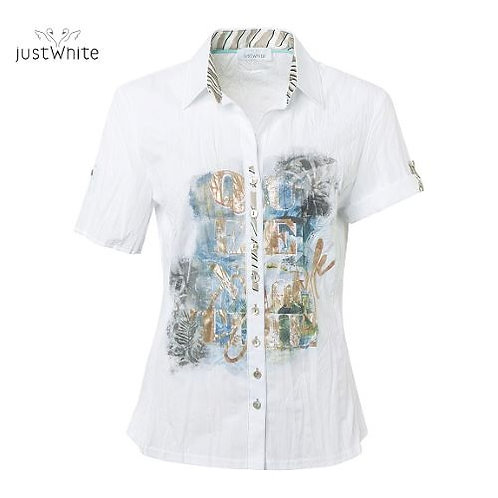 Just White Blouse 43822