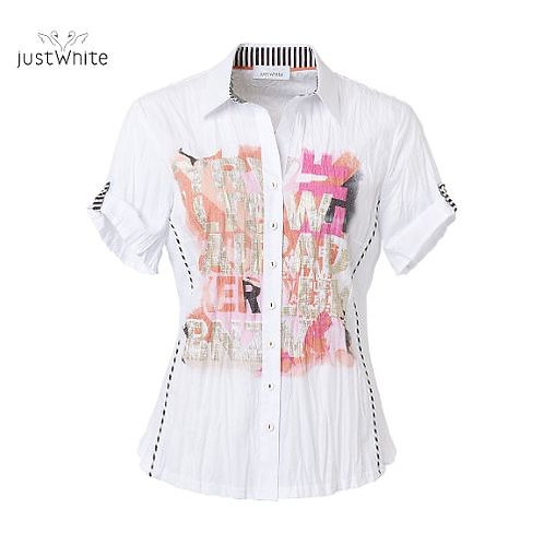 Just WhiteBlouse 43749