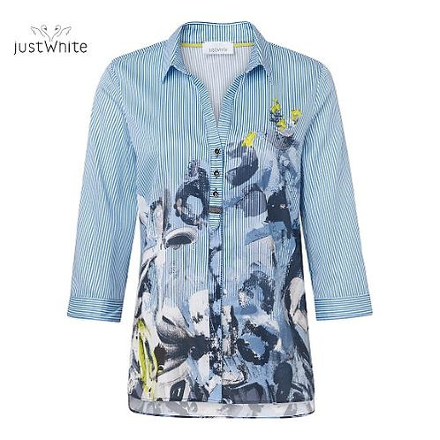 Just White Blouse 43649