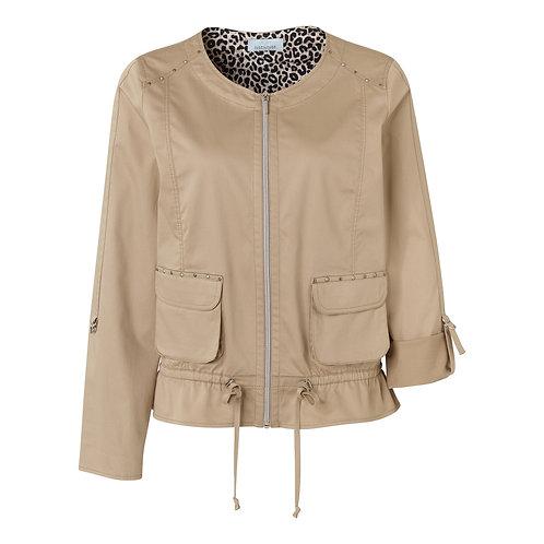 Just White Beige Zip Jacket 42555